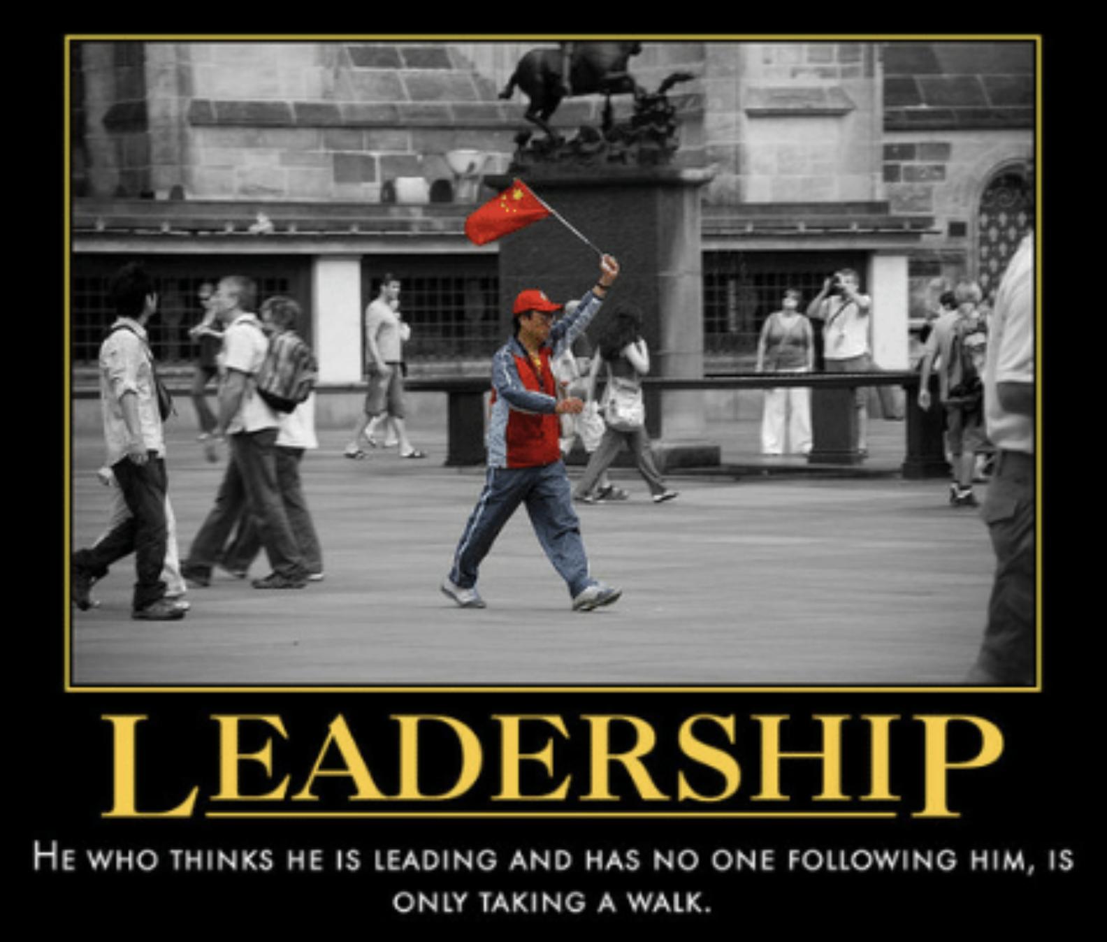 A leader? Hmmm
